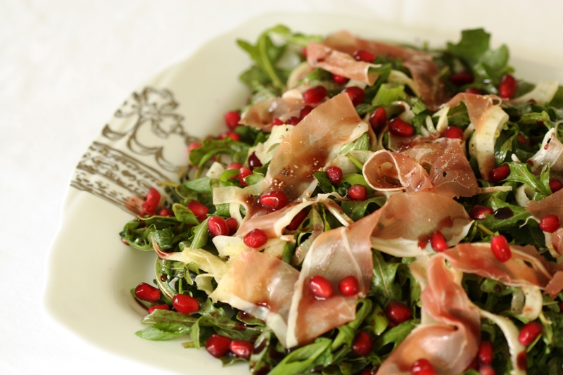Arugula, Prosciutto and Pomegranate Salad | Suzanne Landry ~ Fresh ...
