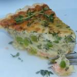 Wild caught fresh salmon quiche - dairy free, gluten free and delicious!