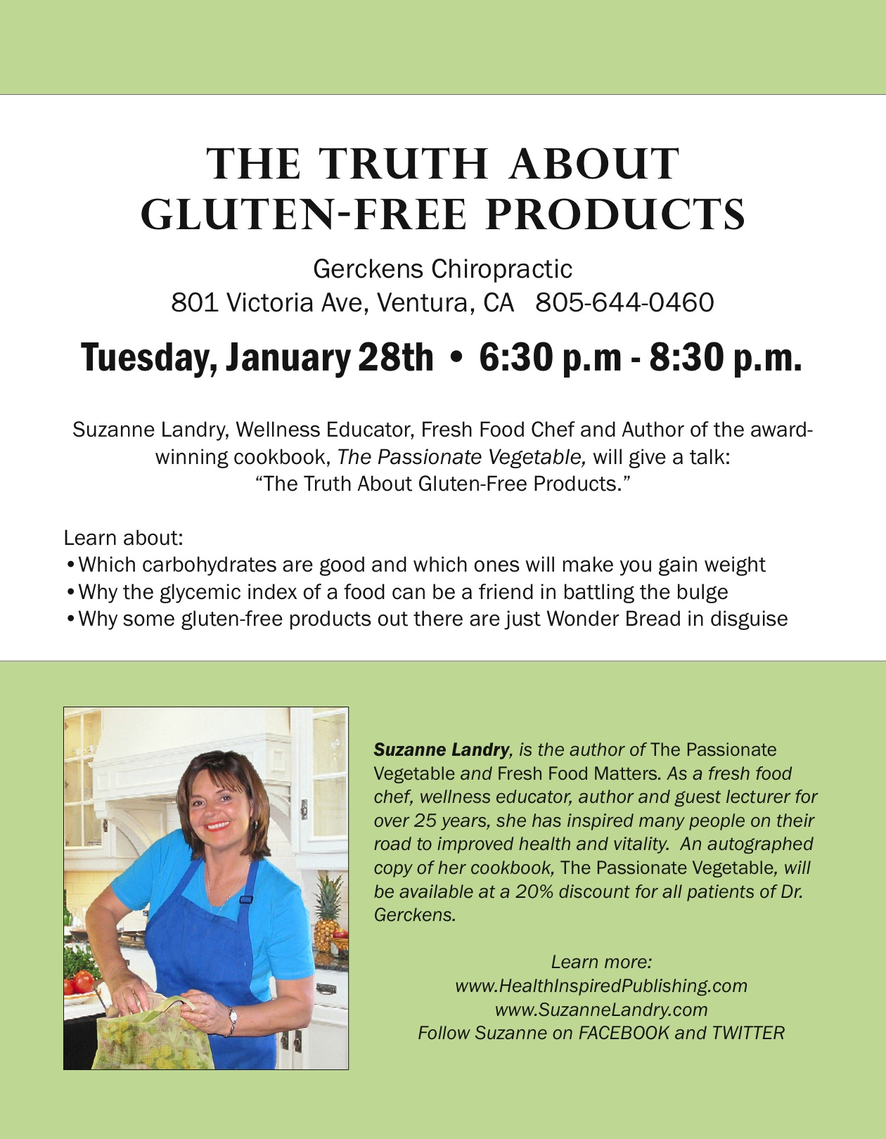 Truth about gluten free products | Suzanne Landry ~ Fresh Food Chef ...