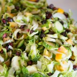 Brussel Sprouts with Pomegranate Salad